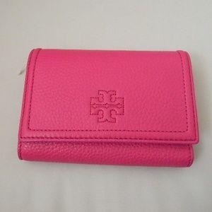TORY BURCH Thea Medium Flap Wallet Crazy Pink